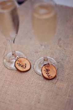 personalized with wood chip labels