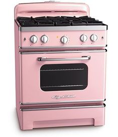 CUSTOM ORDER ONLY Big Chill Stoves have all the functionality of a modern appliance with vintage design and color. Cooking like a pro is easy with the Big Chill stove. Farmhouse Style Kitchen, Modern Farmhouse Kitchens, Retro Oven, Retro Kitchen Appliances, Retro Kitchens, Pink Kitchens, Vintage Appliances, Antique Stove, Big Chill