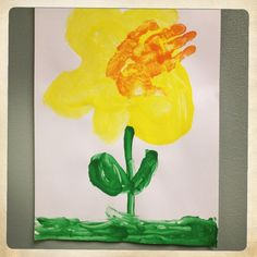 The Daffodil: A springtime art project from a Kindergarten class at KinderCare.