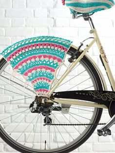 Bicycle skirt guard - pattern from simply crochet mag issue no. 17. www.simplycrochetmag.com