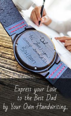 Fathers day gift: UD Personalized/Engraved Mens Ebony Wooden Watch, Anniversary gift, Gift for Father, Groomsmen Gifts, boyfriend gift