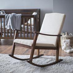 Belham Living Holden Modern Rocking Chair   Upholstered   Ivory   $199.99  @hayneedle | Nursery | Pinterest | Rocking Chairs, Ivory And Modern