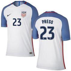 fd9dd79bc Christen Press 23 USMNT 2016 USA Men s Home Soccer Jersey - White