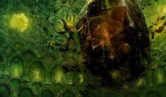 """La """"galerie"""" de Gravity Rush Remastered est accessible depuis le menu du jeu. De véritables pépites et ébauches sont à découvrir ... Dont l'illustration ci-dessus.   http://lamaisonmusee.com/"""
