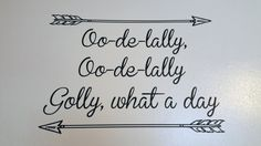 Oo-de-lally Wall Decal by LittleADesignShop on Etsy