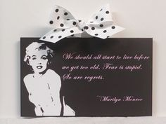 Marilyn Monroe Quote  We Should All Start To by NikkisSecretCloset, $12.95