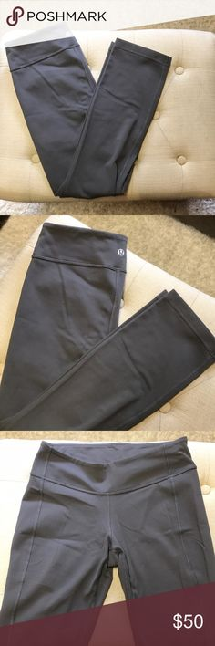 *New* Lululemon straight crops New, never worn Lululemon straight leg crops. These are similar to the winder under crops but are straight leg (isn't tight around your calf). A beautiful gray color and in excellent condition. Size 6. lululemon athletica Pants Leggings