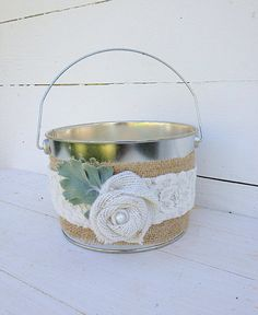 Hey, I found this really awesome Etsy listing at https://www.etsy.com/listing/185726791/tin-bucket-flower-girl-basket-rustic
