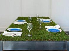 Natural Grass Table Design