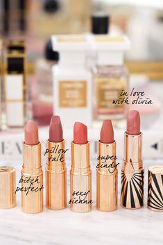 Favorite Charlotte Tilbury Neutrals Lipsticks before and after Top 5 Favorite Lipstick Brands - The Beauty Look Book Neutral Lipstick, Lipstick Palette, Lipstick Dupes, Lipstick Brands, Lipstick Swatches, Dupe Makeup, Eyeshadow Dupes, Dior Lipstick, Hair Makeup