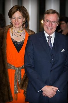 Luxemburg's Prince Jean and wife Diane de Guerre attend the 95th birthday celebration of former Grand Duke Jean of Luxembourg, 9 January 2016.