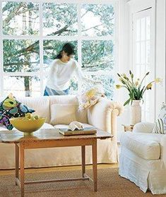 How to fake a clean living room.