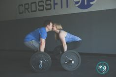 gym, crossfit engagement photos, Durham NC engagement photos by Michelle Gunton