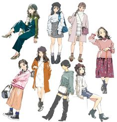 Trending Outfit Ideas Drawing To Copy Now outfit ideas drawing, Clothes:) Trending Outfit Ideas Drawing To Copy Now outfit ideas drawing, Clothes:) Character Outfits, Character Art, Character Design, Fashion Design Sketches, Drawing Clothes, Art Reference Poses, Drawing Poses, Anime Art Girl, Anime Girl Dress