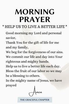 Powerful Morning Prayer, Morning Prayer Quotes, Good Morning Prayer, Night Prayer, Morning Prayers, Prayer Scriptures, Bible Prayers, Faith Prayer, Bible Verses Quotes