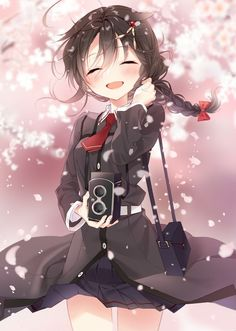 Anime Waifu on - Anime Fan Art, Movie characters Fan Art Anime Girls, Anime School Girl, Cool Anime Girl, Pretty Anime Girl, Manga Girl, Cute Anime Chibi, Chica Anime Manga, Cute Anime Pics, Anime Neko