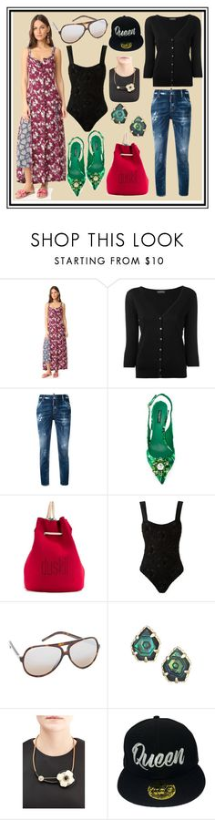 """""""Glorious Global Style"""" by cate-jennifer ❤ liked on Polyvore featuring Cinq à Sept, John Smedley, Dsquared2, Dolce&Gabbana, Duskii, Amir Slama, Marc Jacobs, Kendra Scott, Marni and Lovers + Friends"""