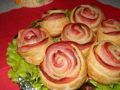 Розы слоеные с колбасой. Рецепт - YouTube