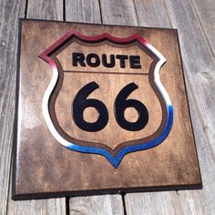 Route 66 Plaque 12 x 12  approx. Item 0306 by LaserZStudio on Etsy, $40.00