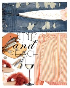 """Everything is Peachy"" by juliehooper ❤ liked on Polyvore featuring Hollister Co., Brother Vellies, Maison Rabih Kayrouz, Riedel and Burberry"