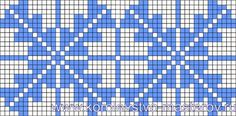 Micro macrame / alpha friendship bracelet pattern / cross stitch chart - can also be used for crochet, knitting, knotting, beading, weaving, pixel art