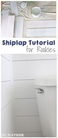 How to Add Shiplap to Your Bathroom Space Fixer Upper fans, this DIY project is for you! Learn how to add shiplap to your home the easy and budget-friendly way. Love this project to add some interest to a bathroom or bedroom space! Home Renovation, Home Remodeling, Bathroom Renovations, Bathroom Makeovers, Bedroom Remodeling, Remodeling Contractors, White Shiplap Wall, Shiplap Diy, White Walls