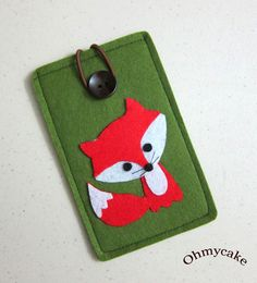 iPhone Case - Cell Phone Case - iPhone 4 Case - iPod Case - iPod Touch Case - Handmade iPhone Felt Case - Kawaii Fox Design via Etsy