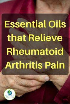 Relieve rheumatoid arthritis pain with these essential oils for arthritis pain relief! #EssentialOilDiffuser