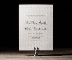 Letterpress wedding invitations with hand calligraphy by @designsgirl Kelle McCarter for Bella Figura