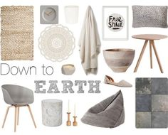Down to Earth - Grey   Natural