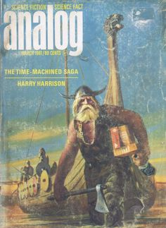 John Schoenherr - Analog Science Fiction - The Time-Machined Saga Harry Harrison, mars 1967
