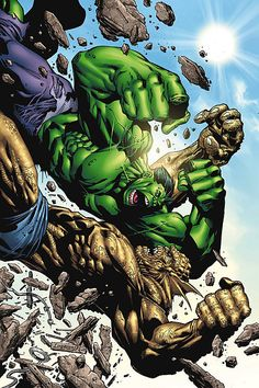 Hulk: Destruction Cover: Abomination and Hulk Marvel Comics Poster - 30 x 46 cm Hulk Marvel, Marvel Villains, Marvel Characters, Marvel Heroes, Hulk Vs Thor, Rogue Comics, Marvel Comics Art, Marvel Comic Books, Comic Art