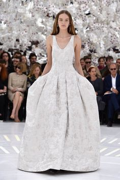 Paris Fashion Week: Christian Dior Haute Couture F/W 2014|Lainey Gossip Lifestyle // This is an amazing ball gown from Dior.  (I'll admit, I am not a fan of the model's makeup)