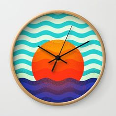 Buy #019 OWLY swimming at the sunrise Wall Clock by owlychic. Worldwide shipping available at Society6.com. Just one of millions of high quality products available. #livingrooms #products #today #owlychic  #livingrooms #decors #building #product #clock #wall #wallclocks