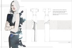 Fashion Sketchbook - dress designs; fashion portfolio layout; fashion illustration // Nina Hecht