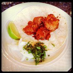 Spicy pork taco