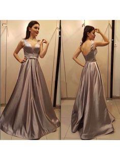 Elegant V-Neck Long Green Prom Evening Formal Dresses 996021541
