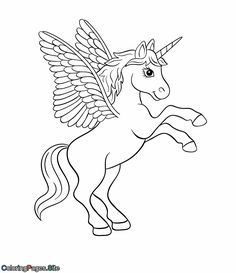 Unicorn with Wings Coloring Page Fresh Unicorn with Wings Drawing at Getdrawings Emoji Coloring Pages, Unicorn Coloring Pages, Easy Coloring Pages, Horse Coloring Pages, Online Coloring Pages, Printable Coloring Pages, Free Coloring, Coloring Books, Kids Coloring