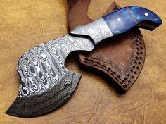 Handmade Damascus Steel Sml Axe BLU2