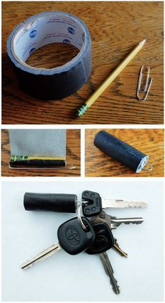 #prepper #EDC - Duct tape keychain: good for any kind of tape like duct tape.