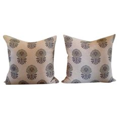 Beautiful pillows made from vintage on-of-a-kind textiles. Down inserts included.
