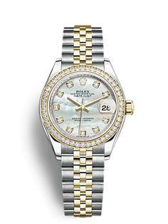 Rolex Lady-Datejust 28 Watch: Everose Rolesor - combination of Oystersteel and 18 ct Everose gold - Rolex Bracelet, Rolex Women, Rolex Models, Seiko Watches, Rolex Datejust, Beautiful Watches, Audemars Piguet, Quartz Watch, Lady