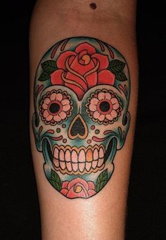Sugar skull ideas. to go on he inside of my leg at the bottom.