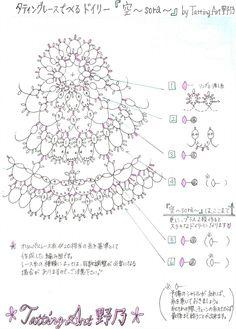 『編み図「空」を公開します^^』