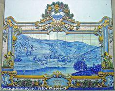 Estação dos Caminhos de Ferro do Pinhão - Portugal by Portuguese_eyes, via Flickr Portugal, Portuguese Tiles