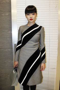 Model Kozue Akimoto at THOM BROWNE. NEW YORK 1st Anniversary Cocktail Party