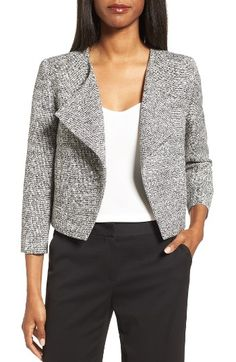 Free shipping and returns on Classiques Entier® Crop Tweed Jacket at Nordstrom.com. A smart and stylish investment for your professional wardrobe, a waist-skimming jacket is tailored from cotton-blend tweed with black-and-white sophistication.
