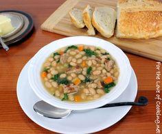 White bean, turkey and kale soup