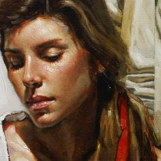 Diego Dayer painting close-up