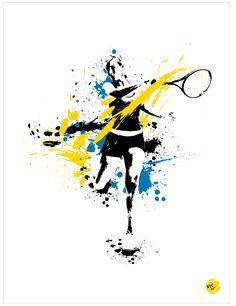 Nike Tennis by Adam Larson, via Behance